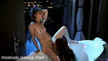 Lovely ladies, Ariella Ferrera and Kirsten Scott are making love, although they aren't lesbians