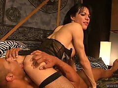 Cock loving tranny, Jordan Jay got fucked in the ass and had a very intense orgasm